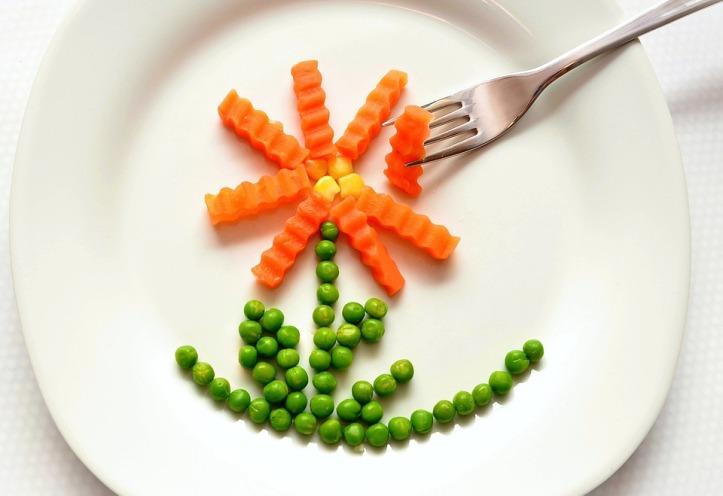 peas carrots